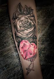 Tetování Srdce A Růže Tetování Tattoo