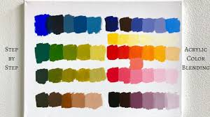 Acrylic Paint Mixing Chart Primary Colors Only Acrylic Color Mixing Tutorial Colorbyfeliks