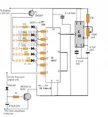 Lighting Circuits Explained Sequential Bar Graph Turn Light Indicator Circuit For Car