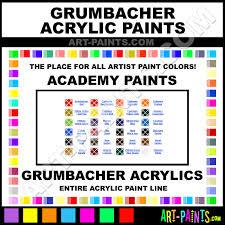 Grumbacher Academy Acrylic Paint Colors Grumbacher Academy