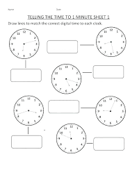 First Grade Time Worksheets Clock 2 Free Printable Telling For ...