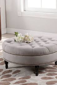 round leather tufted ottoman. Padded Coffee Table Round Leather Ottoman Tufted Large Small Upholstered T