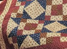 Patriotic Quilts Archives - Quilting Digest & Homespun Fabrics Give This Quilt Rustic Charm Adamdwight.com