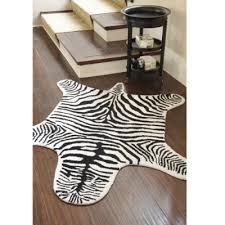 faux zebra hides the green tex zebra round faux fur rug