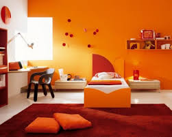 Orange Paint For Living Room Home Design Beautiful Orange Color Wall Wood Simple Design Small