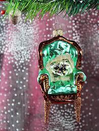 Freigeformter Sessel Grün Weihnachtbaumschmuck