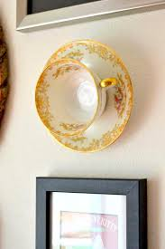 on framed plates wall art with hanging teacup wall art