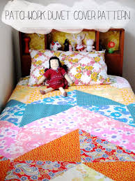 diy duvet covers patchwork duvet cover pattern easy sewing projects and no sew ideas
