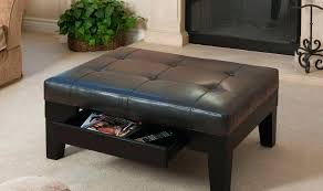 coffee oval ottoman table with nested ottomans leather pottery barn chair