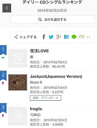 Oricon Music Chart Lingys Soul Searching Block Bs Single Is No 2 On Japans