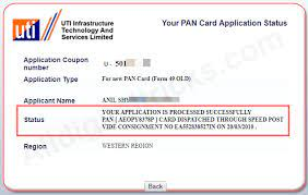 how to track pan card status