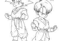 Dragon Ball Z Coloring Pages Goku Kamehameha Against Vegeta With