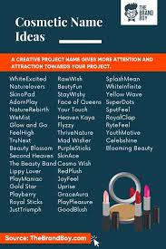 457 catchy cosmetic pany name ideas
