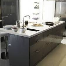 Small Picture akurum kitchen with high gloss grey abstrakt by ikea I really