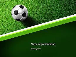 Football Theme For Powerpoint Presentations Soccer Presentation