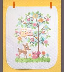 On The Farm Pre-quilted Crib Cover Stamped Counted Cross-stitch ... & Baby Hugs Happi Tree Quilt Stamped Cross Stitch Kit-34