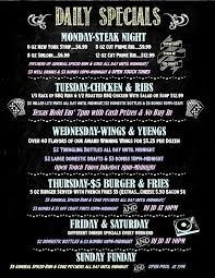 specials menu chalk menu daily specials new coyote joes