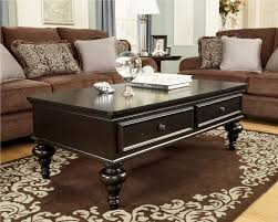 Coffee Table With Drawers Occasional Table Black Wood Material Occasional Coffee Table With