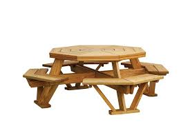 brilliant hexagon picnic tables and pine octagon picnic table with benches