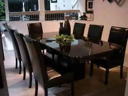room black leather dining room chairs