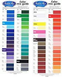 Kiwi Cakes Satin Ice Fondant Colour Mixing Chart