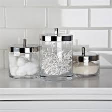 fabulous glass bathroom canisters glass canister set bathroom glass kitchen canisters idea