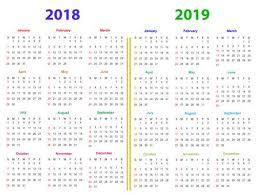 12 Months Calendar Design 2018 2019 Printable And Editable