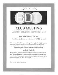 Club Meeting Announcement Inter Club Council