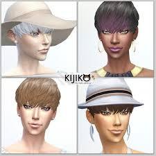 Kijiko Sims: Short Hair With Heavy Bangs for her for Sims 4 | Heavy bangs,  Short hair styles, Bangs