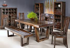 Dining room table bench Wood Coast To Coast Grayson Sheesham 4pc Dining Set With Table Bench And Two Side Chairs The Furniture Warehouse The Furniture Warehouse Formal Dining Inventory