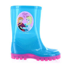 disney frozen blue elsa anna childrens wellies uk 8 infant girls