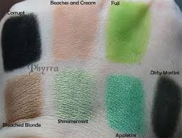 makeup geek eyeshadow swatches greenore