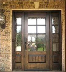 front doors woodExample of custom wood door with glass surround  Interior Barn