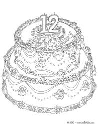 Coloring Pages Of Cakes Brilliant Birthday Cake Printable Pertaining