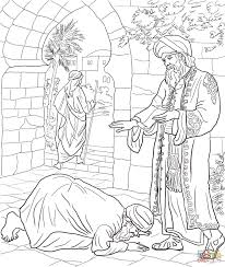 Parable Of The Two Debtors Coloring Page Free Printable Pages Within
