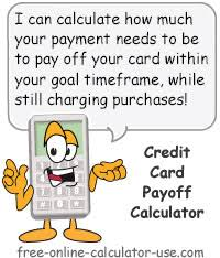 Credit Card Payoff Schedule Credit Card Payoff Calculator For Payment Or Months To Reach Goal