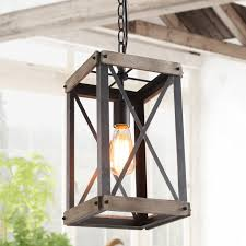 lnc 1 light foyer farmhouse rustic cage