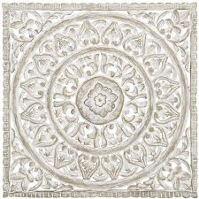 pier 1 white carved wall decor