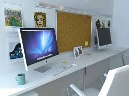 two desk office layout. VIEW IN GALLERY Small Home Office Designs With 2 Computer Desk Two Layout