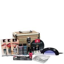 manicure glitter train case gel polish