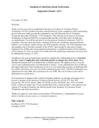 Cover Letter Veterinary Technician