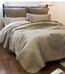235 best Cotton quilting .patchwork quilts &bedspread images on ... & Find More Information about 100% cotton water wash quilting quilts grey  handmade bedcover applique bedspread Adamdwight.com