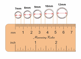 Trojan Groove Size Chart Nose Ring Sizes Chart Earring Diameter Size Chart