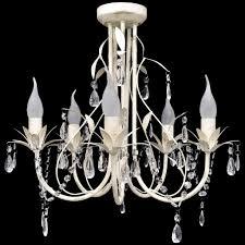 Ebay Light Fixtures Details About Elegant Crystal Chandelier Ceiling Light 5 Lamp Antique Pendant Lighting Fixture