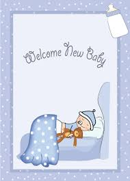 baby postcard cute baby style postcard design vector 04 free download