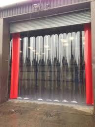 garage door inside. Plastic Garage Door Pvc Strip Curtains Doors Our Inside Present Day See 4 E