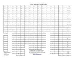 Ohuhu Marker Color Chart Blank Bedowntowndaytona Com
