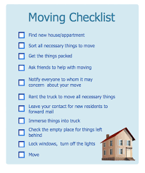 Household Moving Checklist Hr Workflow Vector Stencils Library