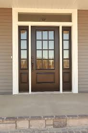 exterior fiberglass doors. Exellent Exterior Exterior Doors  What Could Be Better Than A Bright Shiny New Door  Fiberglass Fir Door With 12 Lites And Matching Sidelites In An Acclimated Entry System  Intended Fiberglass