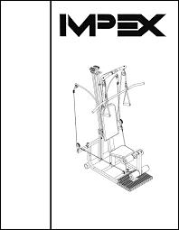 impex home gym tr 2 user guide manualsonline com total gym 1700 club at Total Gym Parts Diagram